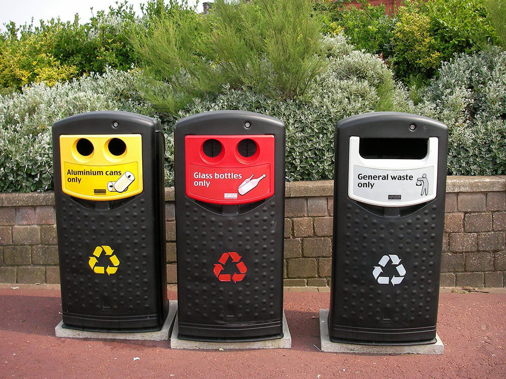 Designated Waste Recycling Bins