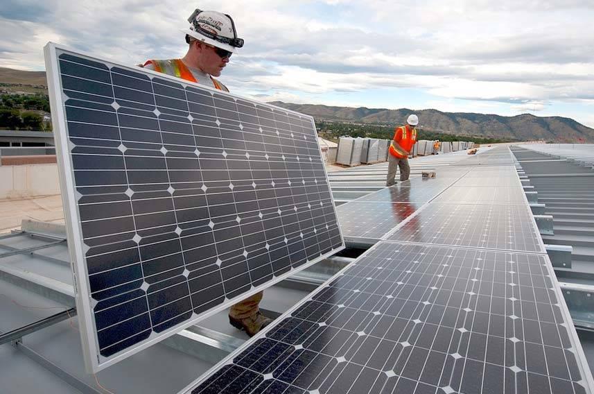 Contractors Installing Solar Panels